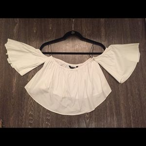 White zara top